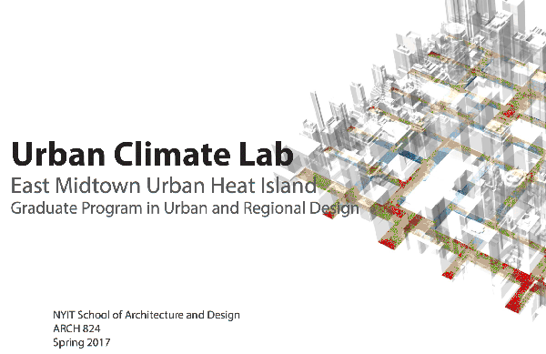 Spring 2016 Urban Climate Lab
