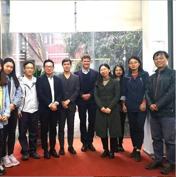 Profs. Raven & Heid with faculty and graduate students after their lecture at Tongji University, Shanghai